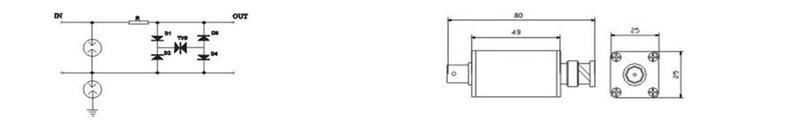 视频信号防雷器电气原理图