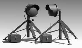 M.I.L.PAC 300B型便携式快速布署微波对射入侵探测器