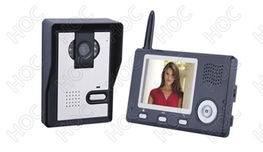 3.5寸无线可视对讲门铃,别墅无线可视对讲系统,无线可视对讲批发
