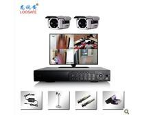 龙安视家用监控设备套餐监控摄像头安防监控系统