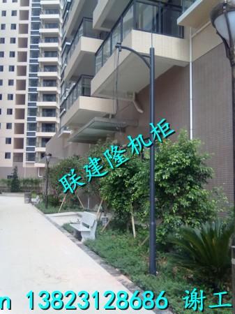 深圳镀锌监控立杆,小区花园监控大小头立杆