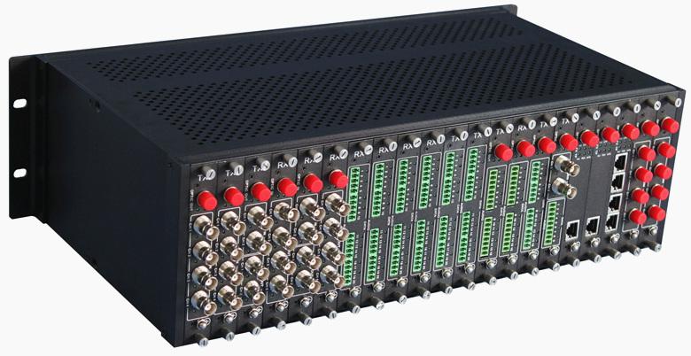 19英寸视频光端机机箱 19槽光端机机架 3U 光纤收发器机架 插卡式