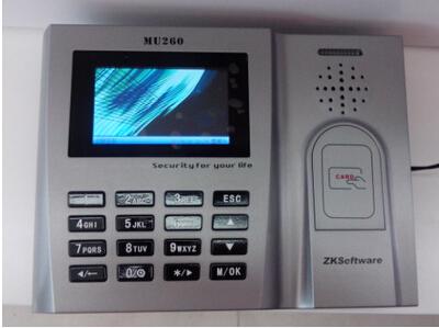 中控MU260考勤机 中控MU260刷卡考勤机 中控刷卡考勤机中控260
