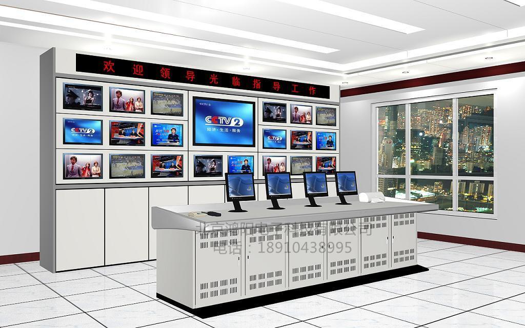 安防电视墙监控柜 监控电视墙柜 监控墙 监控立杆 定做各种操作台