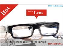 新款超薄无孔眼镜式摄像机,高清无孔眼镜摄像机,超小监控摄像机