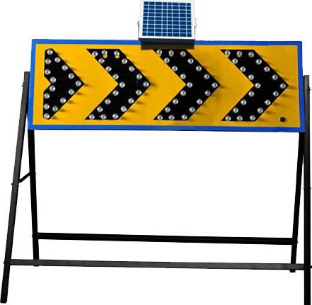便携式爆闪灯带移动可伸缩三角支架