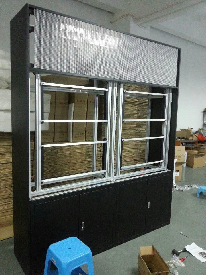 2X2裸屏落地拼接机柜带LED监视器大屏液晶显示器厂家