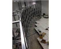 4X14裸屏弧形落地机柜铝型材支架安防显示器拼接电视墙