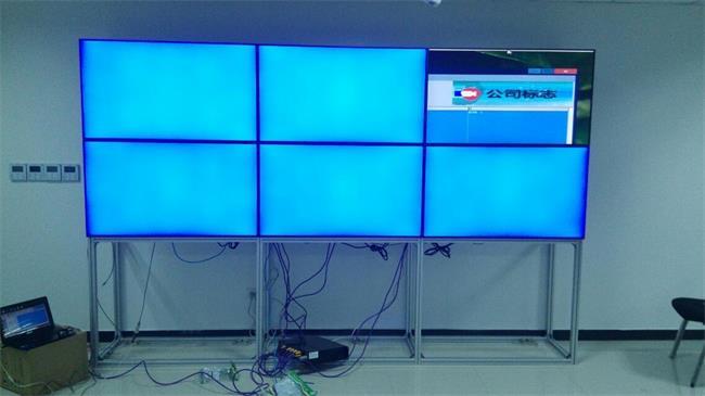 2X6裸屏落地支架监控电视墙液晶拼接屏安防产品