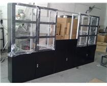 中间一个屏的落地机柜大屏幕拼接电视墙标准支架