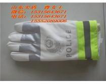 白色黑色交警反光手套