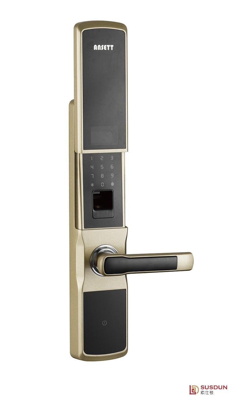 深圳智能指纹锁品牌   索仕顿ansett电动滑盖指纹锁
