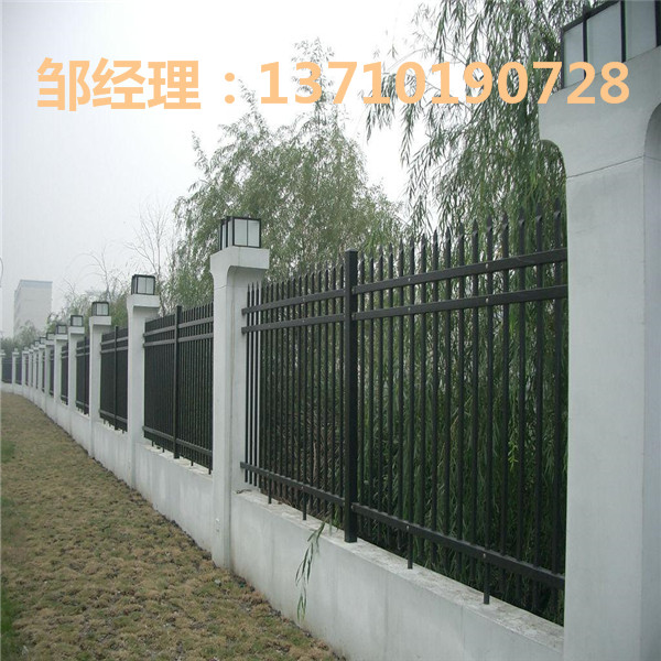 茂名学校防护栏厂家 河源花园栅栏订做 广东院墙锌钢栅栏批发