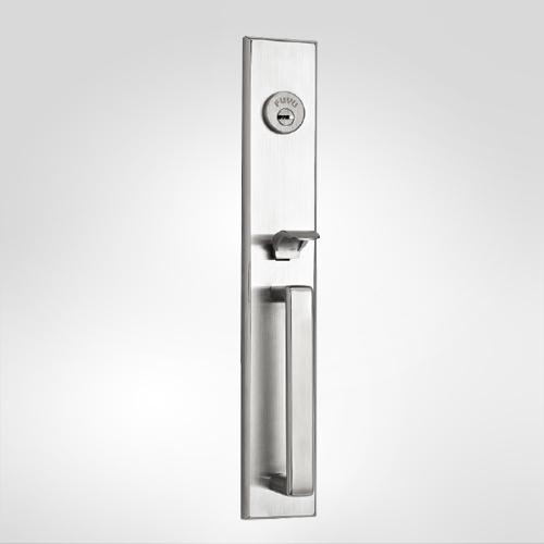 厂家批发 精铸304不锈钢防盗门机械门锁 执手锁 创意面板加工定制