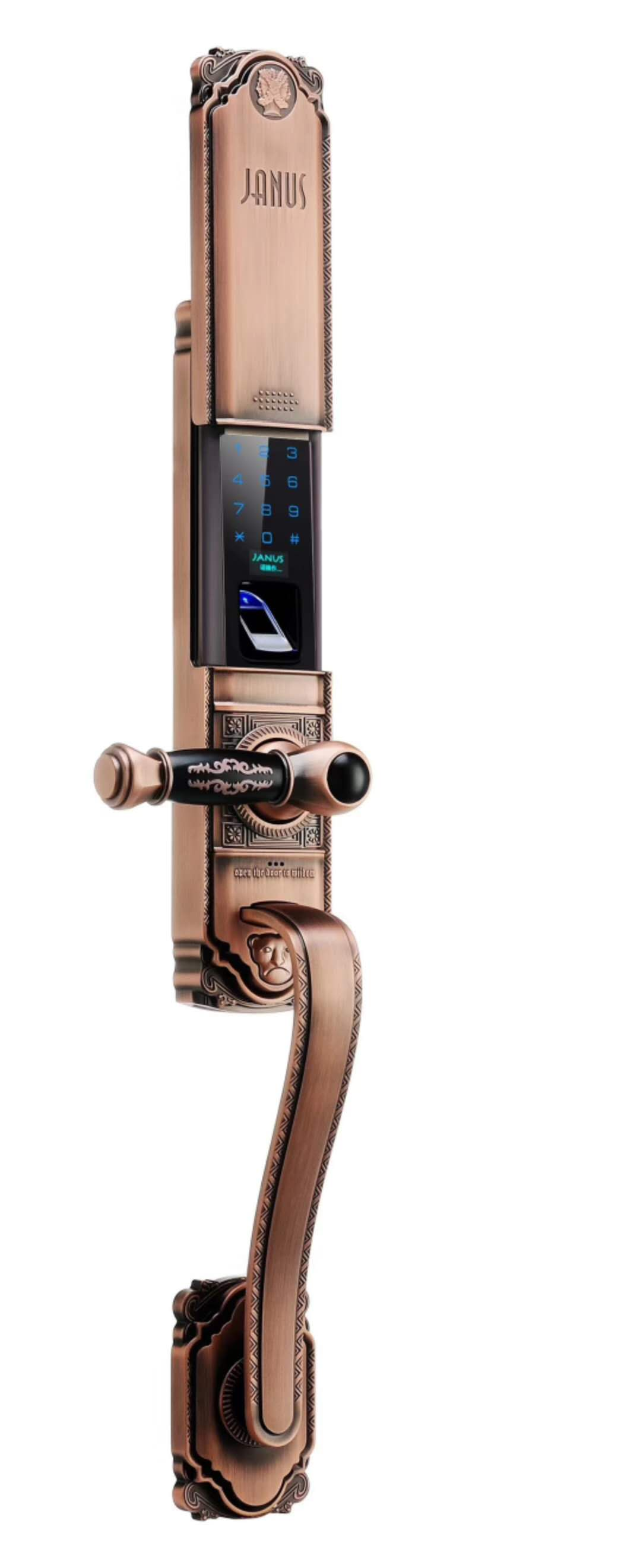 新疆智能指纹锁家用防盗门锁通用型电子门锁公寓密码锁磁卡感应锁