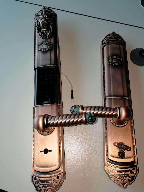 新疆指纹锁家用防盗门锁智能电子锁密码锁刷卡锁微信大门木门铁门铜门锁