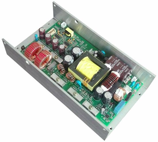 D类480W定压数字功放LLC谐振开关电源一体模块功放板公共广播专用