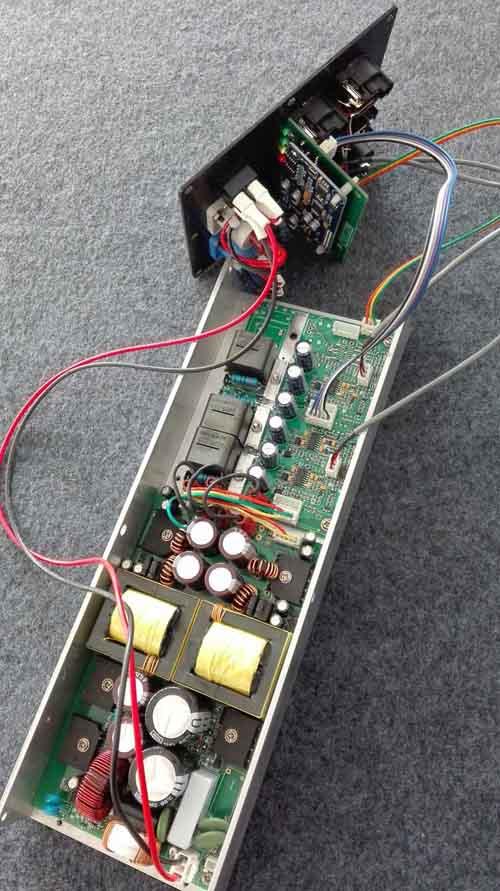 线阵音箱DSP有源功放模块8欧3x400W全频低音频点任设开关电源