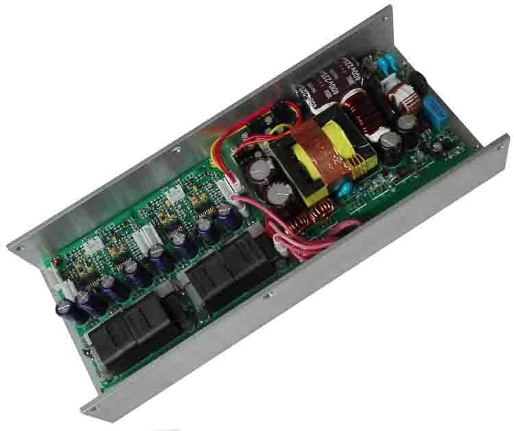 四通道D类数字功放板模块开关电源一体4x400W