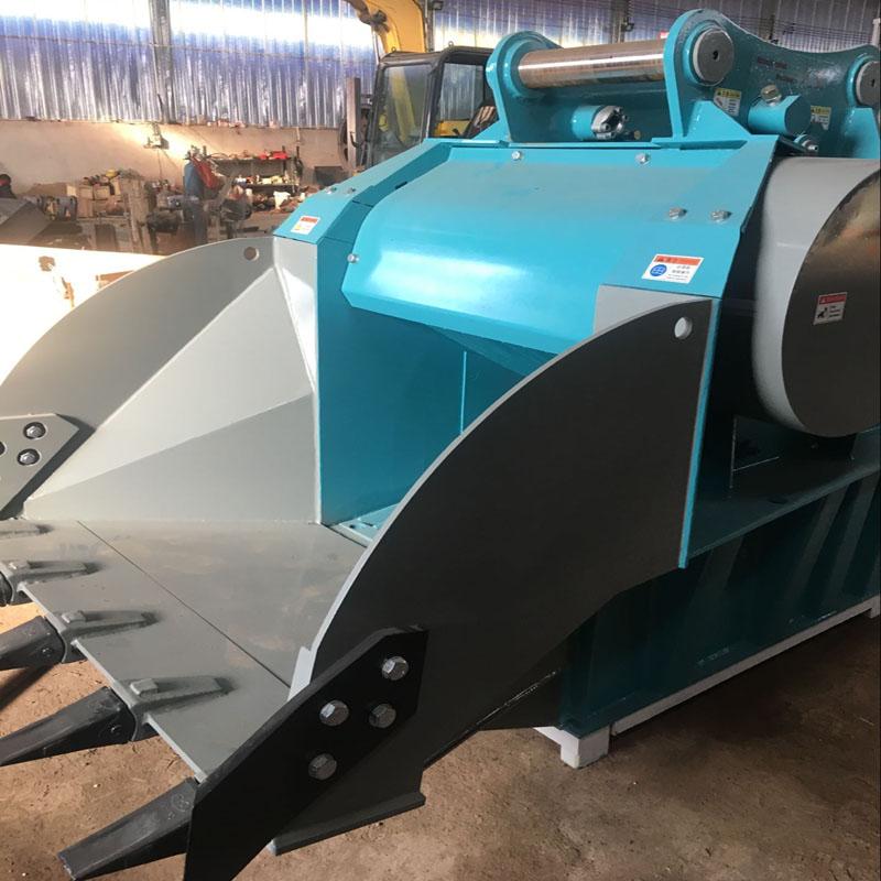 厂家直销鳄式破碎斗 挖掘机双轴液压粉碎斗 质保一年