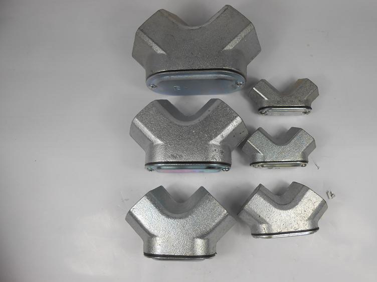 90°弯通DN100铝合金材质防爆穿线盒