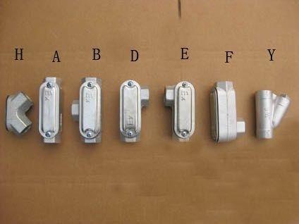 三通DN20铝合金材质防爆穿线盒