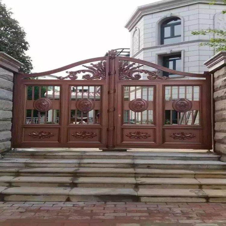 小区围墙铁艺护栏 晋城阳城县庭院大门产品展示